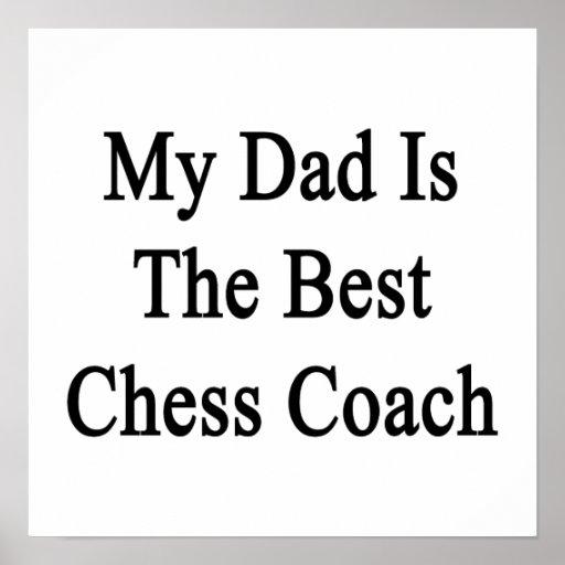 Mi papá es el mejor coche del ajedrez póster