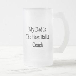 Mi papá es el mejor coche del ballet jarra de cerveza esmerilada