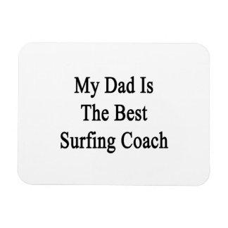Mi papá es el mejor coche que practica surf iman de vinilo