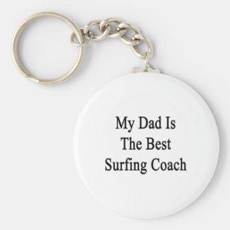 Mi papá es el mejor coche que practica surf llaveros