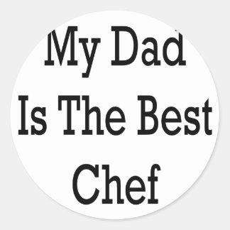 Mi papá es el mejor cocinero pegatina redonda