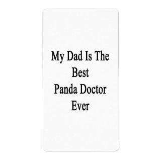 Mi papá es el mejor doctor Ever de la panda Etiquetas De Envío