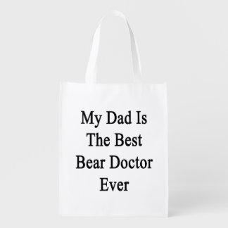 Mi papá es el mejor doctor Ever del oso Bolsa Para La Compra