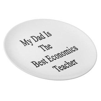 Mi papá es el mejor profesor de la economía plato