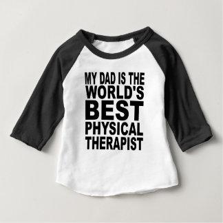 Mi papá es el mejor terapeuta físico del mundo playeras