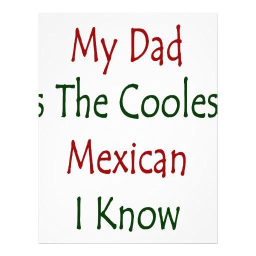 """Mi papá es el mexicano más fresco que conozco folleto 8.5"""" x 11"""""""