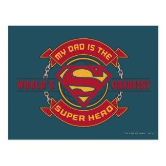 Mi papá es el superhéroe más grande del mundo postal