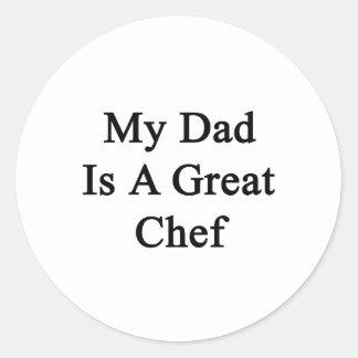 Mi papá es gran cocinero pegatina redonda
