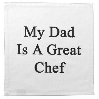 Mi papá es gran cocinero servilleta imprimida