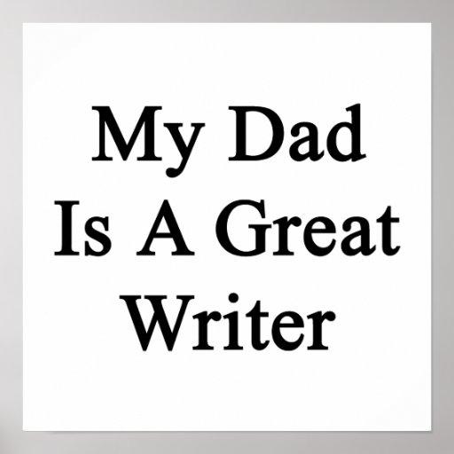 Mi papá es gran escritor poster