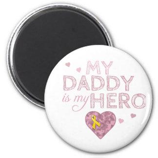 Mi papá es mi héroe - Camo rosado - Imanes Para Frigoríficos