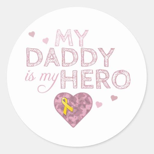 Mi papá es mi héroe - Camo rosado - pegatina