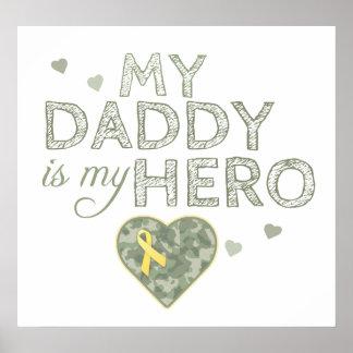 Mi papá es mi héroe - Camo verde - poster