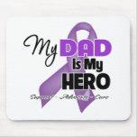 Mi papá es mi héroe - cinta púrpura tapetes de raton