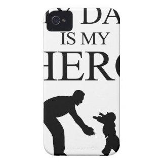 Mi papá es mi héroe funda para iPhone 4