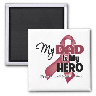 Mi papá es mi héroe - mieloma múltiple imán para frigorifico