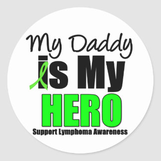 Mi papá es mi héroe pegatina redonda