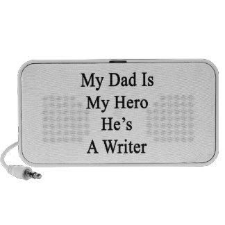 Mi papá es mi héroe que él es escritor notebook altavoces