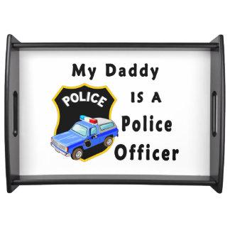 Mi papá es oficial de policía bandeja