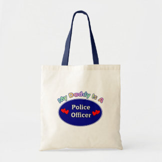 Mi papá es oficial de policía bolsa de mano