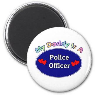 Mi papá es oficial de policía imán redondo 5 cm