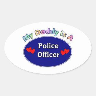 Mi papá es oficial de policía pegatina ovalada