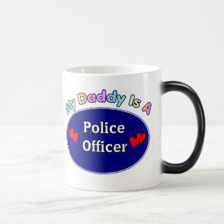 Mi papá es oficial de policía taza mágica