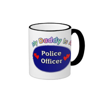 Mi papá es oficial de policía taza a dos colores