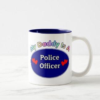 Mi papá es oficial de policía taza dos tonos