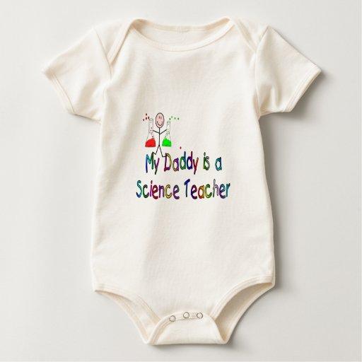 Mi papá es profesor de ciencias--Camisetas de los Trajes De Bebé