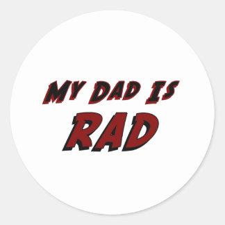 Mi papá es Rad Pegatina Redonda