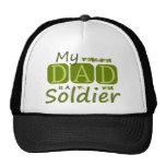 Mi papá es soldado gorras