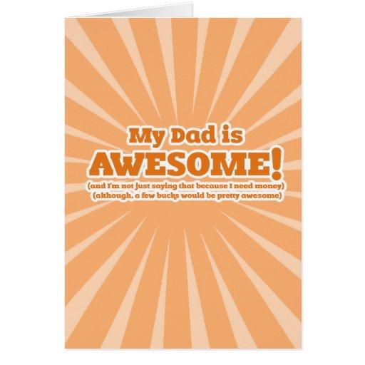 Mi papá es tarjetas divertidas impresionantes del