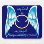 Mi papá es un ángel alfombrilla de raton