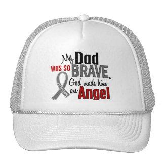 Mi papá es un cáncer de cerebro del ángel 1 gorro de camionero