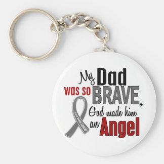 Mi papá es un cáncer de cerebro del ángel 1 llaveros