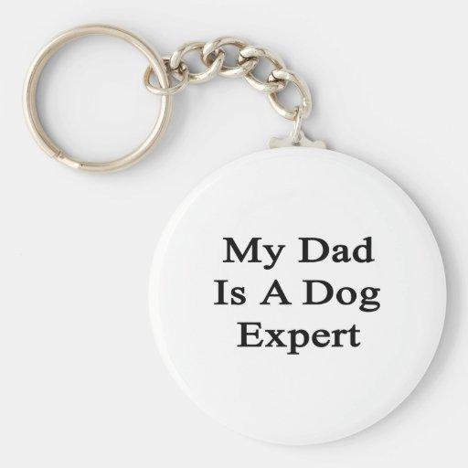 Mi papá es un experto del perro llaveros