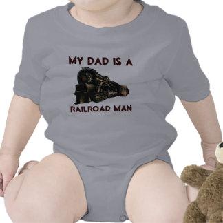 Mi papá es un hombre de ferrocarril traje de bebé