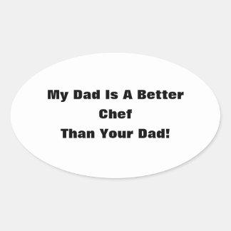 ¡Mi papá es un mejor… que su papá! Pegatina Ovalada