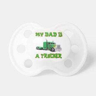 Mi papá es un pacificador del camionero chupete de bebé