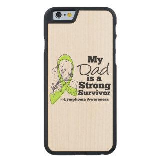 Mi papá es un superviviente fuerte del linfoma funda de iPhone 6 carved® slim de arce
