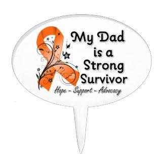 Mi papá es una cinta fuerte del naranja del superv decoraciones para tartas