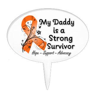 Mi papá es una cinta fuerte del naranja del superv figuras de tarta