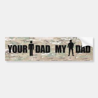 Mi papá está en los militares pegatina para auto