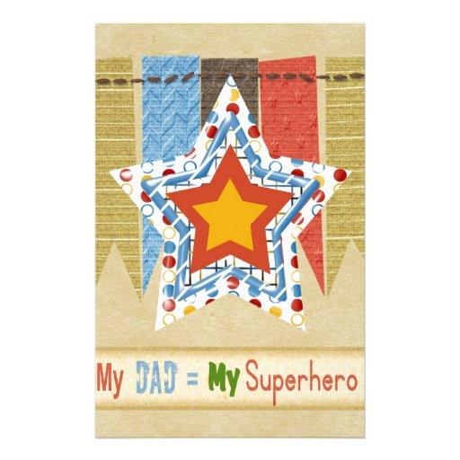 Mi papá iguala a mi superhéroe, el día de padre papeleria