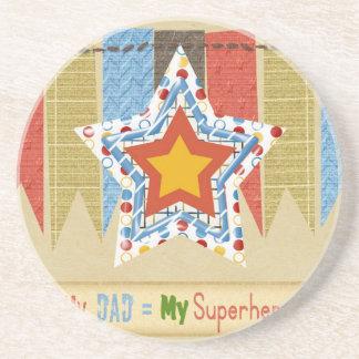 Mi papá iguala a mi superhéroe, el día de padre posavasos diseño
