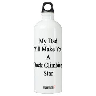 Mi papá le hará una estrella de la escalada