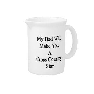 Mi papá le hará una estrella del campo a través jarra de beber