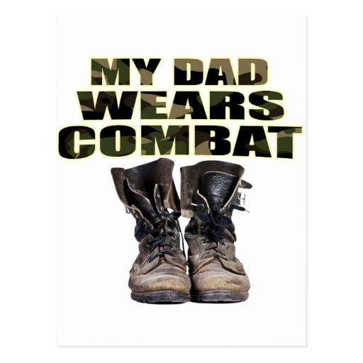 Mi papá lleva botas de combate postales