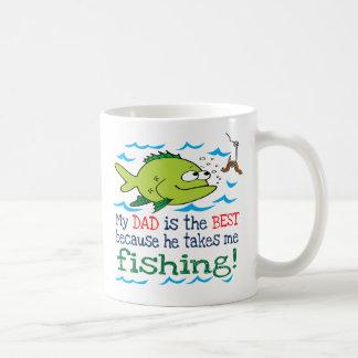 Mi papá me toma la pesca tazas